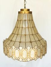VINTAGE CAPIZ LAMP, Mid Century 1950s  From Philippine Beautiful And Rare