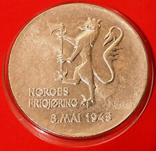 Norway 200 Kroner 1980 BU Silver Coin in Protective Capsule Face Value Near £20
