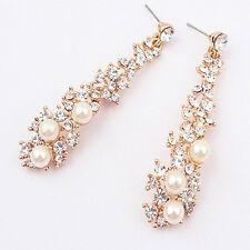New Fashion Women Wedding party Ear Hook Chandelier Crystal Dangle Earring Gift