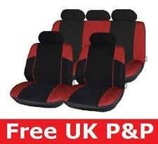 Black Red Full Car Seat Cover Protector for CITROEN C1 C46