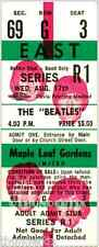 9 1964-66 THE BEATLES CANADA FULL UNUSED CONCERT TICKETS laminated reprint