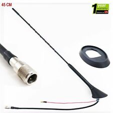 Universal Car Stereo Radio Mast Roof Black Antenna Aerial with Screw in Base(Fi