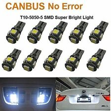 5pcs T10 White Led Canbus Error Free 5 SMD Car Side Wedge Light Bulb 168 194 W5W