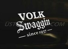 VOLK SWAGGIN Car Decal Sticker Euro VAG Golf Polo Beetle Bug Camper DUB