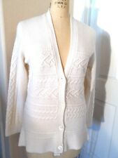 $400NWT SAKS FIFTH AVENUE CASHMERE/WOOL CARDIGAN SWEATER SNOW COLOR SIZE X-LARGE