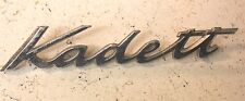 Rare Vintage Opel Kadett Metal Emblem Ornament nameplate trim badge  logo