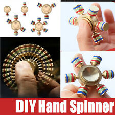 Glowing Brass Hand Spinner Fidget Ceramic Ball Desk EDC Focus Toy Kids/Adult DIY