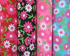 Big Boomer Bloomer Brilliant Floral Flower Polycotton Fabric By The Metre