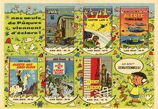 """""""EDITIONS DUPUIS"""" Annonce originale entoilée JOURNAL SPIROU années 50 43x32cm"""