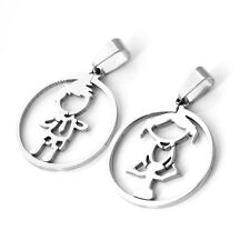 5 Pair Lot Silver Stainless Steel Lovely Baby Boy Girl Pendant fashion Jewelry
