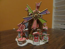 Dept 56 56752 Christmas Candy Mill Gumdrop Cane Windmill North Pole Snow Village