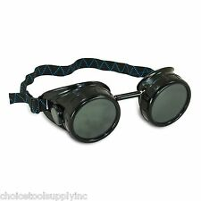 Black Steampunk Welding Cup Goggles - 50mm Eye Cup