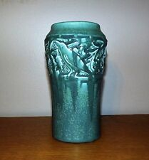 Rookwood Fine Production Vase with Rooks in Oak Trees 1924 A+ Glaze MINT!