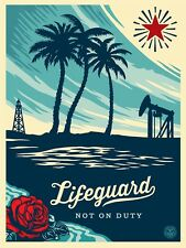 Obey Lifeguard Not On Duty print by Shepard Fairey signed numbered obeygiant