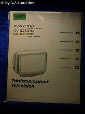 Sony Bedienungsanleitung KV X2181D /X2581D /X2981D Color TV (#2035)