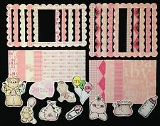 Baby Girl 30 Embellishment paper images scrapbooking