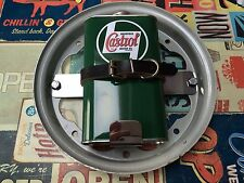 Lambretta Oil Can Holder In Polished Stainless steel And Replica Castrol Can