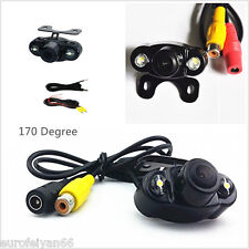 Wide Angle 2-LED Light Night Vision Car Rear View Reverse Backup CMOS Camera Kit