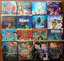 Lot 6 Disney DVDs: Zootopia, Mulan, Toy story 1,2,3, Pocahontas, Frozen & more