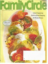 Family Circle August 2014 Instant Organizing/20 Minute Dinners/Farm to Fork