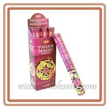 LOT OF 40 Stick PAGAN MAGIC Incense HEM ~ 2 TUBE OF 20 Sticks = 40 FRESH STICKS
