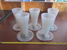 Tupperware 754-3 5 Parfait Cups Gray with Base no lid cup drink yogurt snack lot