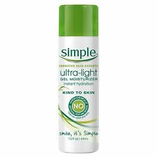 Simple Gel Moisturizer, Ultra Light 1.5 oz - Unique, Ultra-light, Fast asborbing