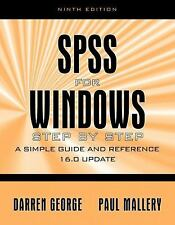 SPSS for Windows Step by Step: A Simple Guide and Reference, 16.0 Update (9th Ed