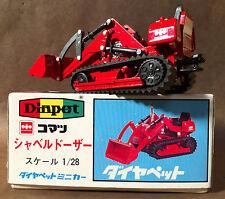 K 31 KOMATSU SHOVEL BULL  DOZER YONEZAWA RED DIAPET #127-01452 TOMICAR
