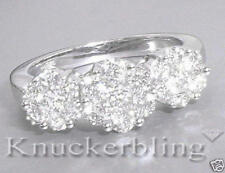 Magnificent Diamond Trilogy-style 18ct White Gold Ring