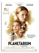 Affiche pliée 40x60cm PLANÉTARIUM (2016) Natalie Portman, Lily-Rose Depp NEUVE