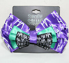 Suicide Squad DC Comics The Joker HA HA Cosplay Hair Bow Tie Costume Dress-Up