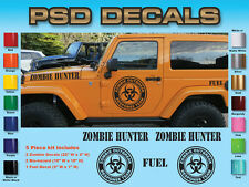 Jeep Wrangler 5 Piece Zombie Hood Decal Sticker rubicon sahara #SH-130