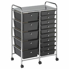 Plastic Storage Bins With Drawers Boxes Cabinet Organizer Cart Containers Craft