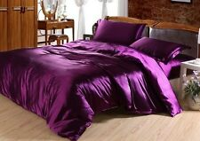 Voilet purple silky satin polyfibre filled  king size  comforter /quilts items