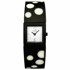 GUESS LADIES U95005L1 BLACK  IP  POLKA  DOT  BANGLE WATCH