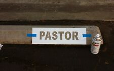 "PARKING LOT STOP BLOCK STENCIL SIGN ""PASTOR"" or VISITOR or choose one"