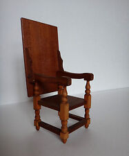 Vintage Wooden Doll House Convertible Chair turns to Table Dollhouse  Rare