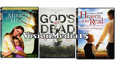 3 PACK - Miracles From Heaven &, Gods Not Dead, Heaven Is For Real DVD NEW 2016