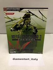 METAL GEAR SOLID 3 SUBSISTENCE STRATEGY GUIDE (GUIDA STRATEGICA) IN ENGLISH