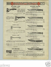 1925 PAPER AD Marble's Hunter's Axe Knife Knives Woodcraft Expert Neft Safety