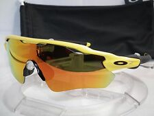 CUSTOM OAKLEY RADAR EV PATH SUNGLASSES OO9208 Team Yellow / Fire Iridium NEW
