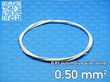 Automotive wire FLRY 0.5mm², white color, 1 meter length