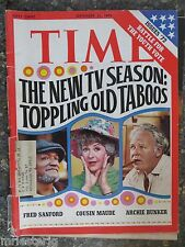 Time Magazine   September 25,1972  Archie Bunker Fred Sanford Maude  GREAT ADS