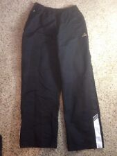 Men's Addidas black Breakaway Button Leg Gym Running pants sz Small S Ked