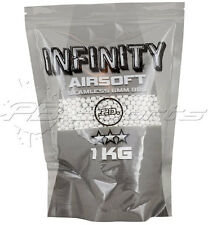 Infinity .20g White BBs BB's 1kg Count Bag Airsoft BBs High Quality Seamless
