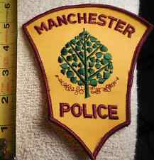 MANCHESTER CONNECTICUT POLICE PATCH (EMS, HIGHWAY PATROL, STATE POLICE, SHERIFF)