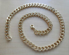 """19"""" / 47 cm Long Chunky Curb Gold Neck Chain, Comes in a Gift Bag"""