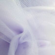 Pastel Lilac Fine Tulle fabric 275cm wide - by the M - Bridal Prom light Purple