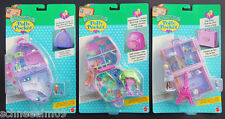 Mini Polly Pocket 3suitcas NEW Snow Mountain Paris Jungle Adventure Koffer Hotel